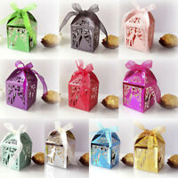 10pcs Laser Cut Candy Box Bride and Groom Wedding Favor Box Wedding favors GRKUS