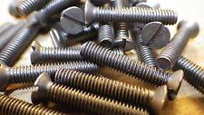 2BA X 1.3cm Stahl Geschlitzt Senkkopf Ba Selbst Farbe Maschinenschrauben Dampf