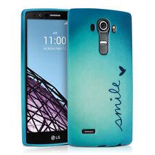 kwmobile Tpu Schutz Hülle für Lg G4 Smile Blau Cover Handy Silikon Case Tasche