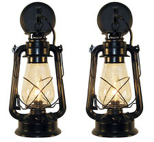 Pair of  Oil Lamp wall sconce Large Black (2nds) by Muskoka Lifestyle Products