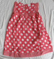 Girls NEXT pink spot spotty polka dress sleeveless dress age 2-6 bnwt