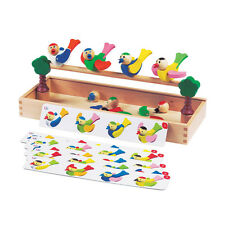 Happy Birds Game - Wooden Educational Toy - 3 Years+
