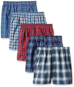 Fruit of the Loom Boy's Multipack Woven Boxer Covered Waist band - Fast S&H