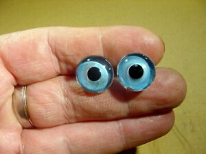 a pair vintage solid doll glass eyes 16 mm for bisque doll doctor age1910 A 4246
