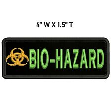 Biohazard Symbol Embroidered Patch Hook Backing Toxic Warning Danger Applique