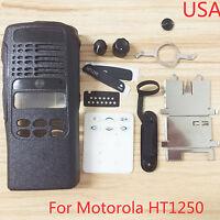 Black Replacement Repair Full-keypad Case Housing For Motorola HT1250 Radios