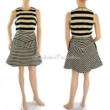 Portmans Signature Multi Stripes a Line Dress Multi-coloured Size 10 Tags
