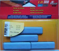 Patin glisseur adhésif gris Daisif -Rectangle- Dimensions 70x19 mm - Vendu par 4