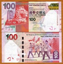 Hong Kong, $100, 2013, HSBC, P-213-New, UNC > Lion