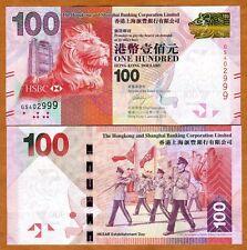Hong Kong, $100, 2013, HSBC, P-213-New, UNC > Lion