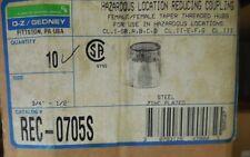 "Box of 10 each REC-0705S OZ-G RDC CPLG STL 3/4"" TO 1/2"" O-Z/Gedney"