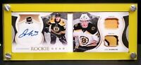 Jake DeBrusk 2017-18 The Cup Auto Jersey Patch Rookie Gear DeBrusk Rookie Patch