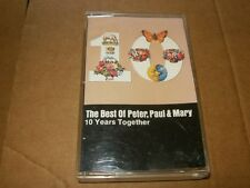 The Best Of Peter, Paul & Mary 10 Years Together Cassette, Plays Fine.