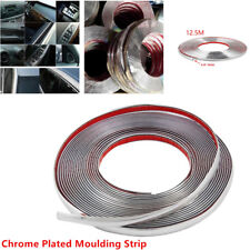 12.5m Chrome 3M Adhesive Car Door Edge Moulding Trim Guard Strip Protector 10mm