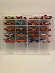 Disney Pixar Cars Diecast Lot 21 Lightning McQueen Variations With Display Case.