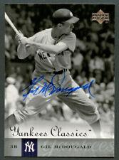 Gil McDougald #25 signed autograph auto 2004 Upper Deck Yankees Classics Card