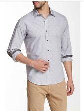 NWT Men's Lorenzo Uomo Thin Stripe Modern Fit Shirt Size XL