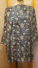NWT Meng Designs Rayon Batik Shirt Top Blouse One Size GORGEOUS