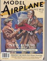 MODEL AIRPLANE NEWS Magazine January 1998 Global Hobby Raven  mag / q9