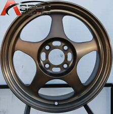16 ROTA SLIPSTREAM 4X100 SPORT BRONZE RIMS FITS CIVIC EF EK EG MIATA MR2