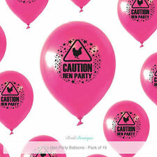 Hen Night Party Do Decorations Bag Fillers Warning Sign 15 Pink Latex Balloons