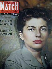 PARIS MATCH N° 0425 IRAN SORAYA DICKENS PHOTOS IZIS GP MONACO FANGIO 1957