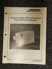 BOSE FreeSpace 32SE Surface Mount Environmental Loudspeaker Service Manual ☆EXC☆