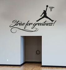 Strive For Greatness Wall Decal Vinyl Black Lettering Art CUSTOM COLORS MS379