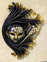 Odamira - Maschera veneziana artigianale in ceramica e cuoio