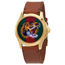 Gucci Marche Des Merveilles Green and Red Web Nylon Dial Unisex Watch YA126497