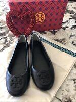 Tory Burch Minnie Travel ballet flat Leather 8.5 Black