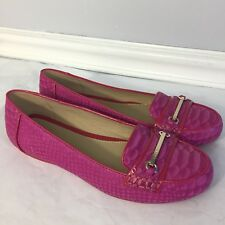 Geox Pink Leather Loafers Flats Shoes Women's Size 37.5