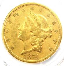 1874-CC Liberty Gold Double Eagle $20 - PCGS XF Details - Rare Carson City Coin!
