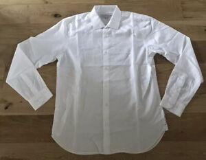 Orlebar Brown Shirt Mens Premium Poplin Cotton Lightweight White Medium New