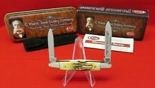 Case C.Platts Sons 05263 SS Eisenhower 2005 Burnt Stag Knife #06371 Orig Box XX