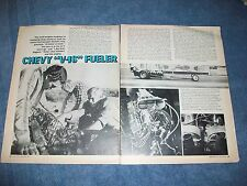 "Vintage 1971 Article on Chet Herbert Twin Engine Dragster ""Chevy V-16 Fueler"""