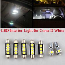 Vauxhall Corsa D 2006 - 7pcs LED Interior Light Replacement kit White Error Free