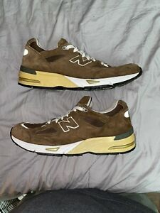 NEW BALANCE 990V3 SHOES 990 BROWN SUEDE SIZE 12