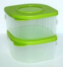 Tupperware Fresh N Cool Set of 2 Modular Containers 2 Cups Each Green