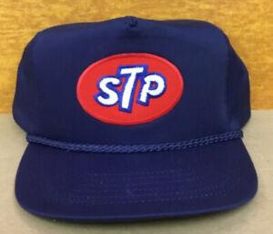 Vintage STP Adjustable Snapback Hat Cap NOS Navy Blue with Rope  New