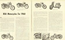 1960 Bsa Motorcycles 3-Page Vintage Article