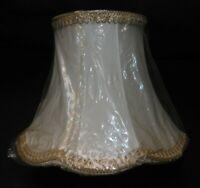 ABAT JOUR PAGODE NEUF POUR LAMPE DE CHEVET/BUREAU .ø 25cm .TAFFETAS DOUBLE BEIGE