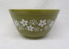 Corning PYREX Crazy Daisy Spring Blossom Small Mixing Bowl #401 750ml Green