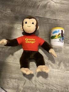"""Gund 11"""" Plush Curious George Monkey (2001) Plush With Sippy Cup"""