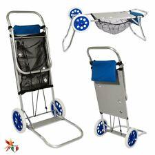 FENICE Carrello Trolley Portasedie 96371 da Spiaggia o Campeggio in Alluminio