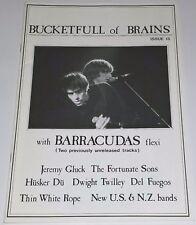 BUCKETFULL OF BRAINS MAGAZINE PUNK BARRACUDAS FLEXI DISC RECORD HUSKER DU 45 lp