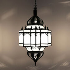 Oriental Hanging Lamp Light Glass Moulay-K Frosted