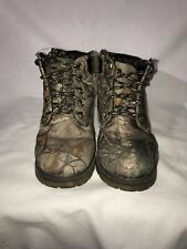 Boys Size 11 Faded Glory Camo Boots Pre Owned