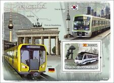 MADRID METRO (Type 8000 Train) Subway Underground Railway Stamp Sheet (2008)