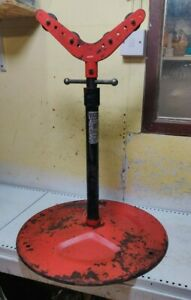 Ridgid 965 Pipe Stand Threading Cutting Roll Grooving Threader 300 1233